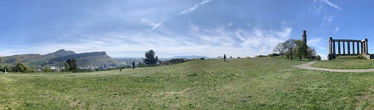 Calton Hill view