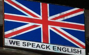 anglais - we speak english